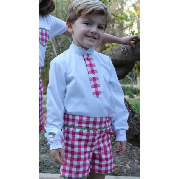 4faaee028 Conjunto niño camisa y pantalon colección Marina - El Hada Piculina