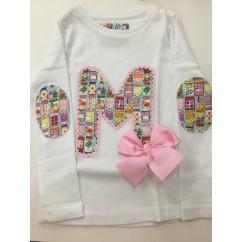 Camiseta inicial tarritos manga larga niña