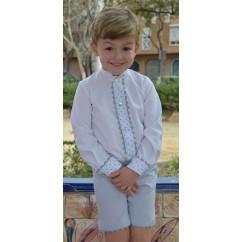 Conjunto niño camisa y pantalon colección Corazón