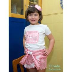 camiseta dulce rosa