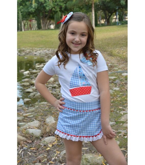 Falda pantalon niña colección Vela