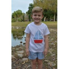 Conjunto niño bermuda y camiseta colección Vela