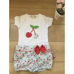 Conjunto Camiseta y short niña Cereza