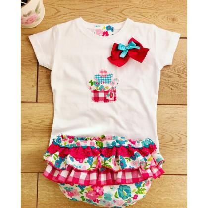 Conjunto camiseta y Culotte cupcake