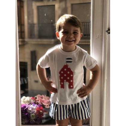 Conjunto bermuda y camiseta niño Oceano