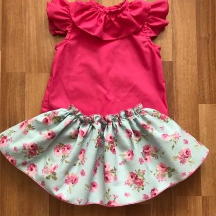 Conjunto de falda con braguita incorporada y blusa a juego Amelie
