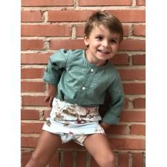 Conjunto camisa y pantalon bombacho niño Ines